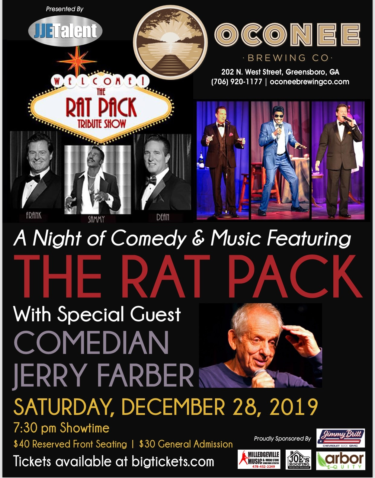 A Night of Comedy and Music Featuring The Rat Pack with special guest: Comedian Jerry Farber