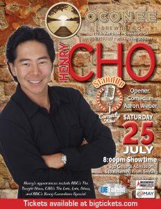 Comedian Henry Cho at Oconee Brewing Company