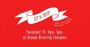 """""""Sip & Shop!"""" Oconee Brewing Holiday Shops"""